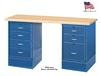 WORK BENCH WITH FILE & DRAWER CABINETS